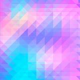Fundo de formas geométricas Teste padrão retro Bandeira colorida do mosaico E triângulo ilustração do vetor