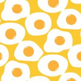 Fundo de Fried Egg Pattern With Yellow ilustração do vetor