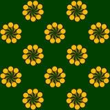 Fundo de furacões esquemáticos espirais das flores Imagens de Stock Royalty Free
