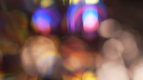 fundo de giro colorido do movimento do efeito visual do bokeh video estoque