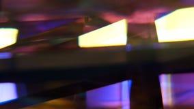 fundo de giro do cubo do vitral vídeos de arquivo
