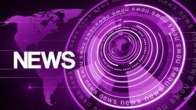 Fundo de giro 4k da notícia do globo do círculo ilustração royalty free