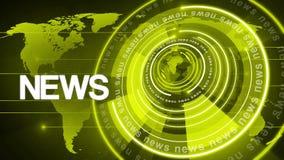 Fundo de giro 4k da notícia do globo do círculo ilustração stock