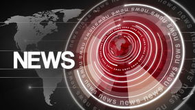 Fundo de giro 4k da notícia do globo do círculo ilustração do vetor