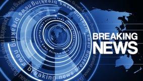 Fundo de giro 4k das notícias de última hora do globo do círculo ilustração do vetor