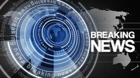 Fundo de giro 4k das notícias de última hora do globo do círculo ilustração stock