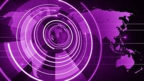 Fundo de giro 4k do globo do círculo ilustração do vetor