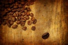 Fundo de Grunge com elementos do café Imagem de Stock