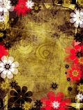 Fundo de Grunge com elementos florais Fotografia de Stock Royalty Free