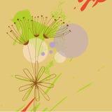 Fundo de Grunge com flores ilustração stock
