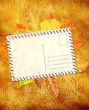 Fundo de Grunge com folhas de outono Foto de Stock