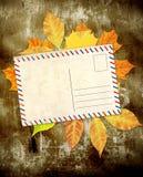 Fundo de Grunge com folhas de outono Imagens de Stock Royalty Free