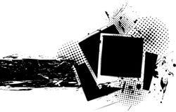 Fundo de Grunge com frames da foto Foto de Stock Royalty Free