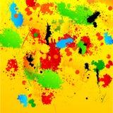 Fundo de Grunge com os Splatters desarrumado da pintura Fotografia de Stock Royalty Free