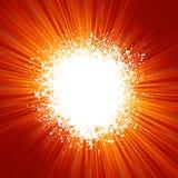 Fundo de Grunge com teste padrão do estouro da laranja. EPS 8 Fotos de Stock Royalty Free