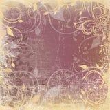 Fundo de Grunge com teste padrão floral Imagens de Stock Royalty Free