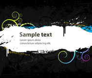 Fundo de Grunge com testes padrões e borrões da cor ilustração stock
