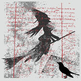 Fundo de Grunge da bruxa ilustração do vetor