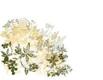 Fundo de Grunge da flor Foto de Stock Royalty Free