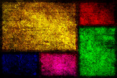 Fundo de Grunge das caixas de cor Imagens de Stock Royalty Free