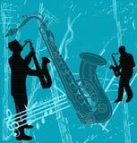 Fundo de Grunge do saxofone Imagens de Stock