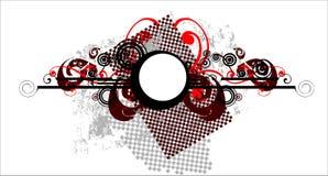 Fundo de Grunge - o vermelho elemen Fotos de Stock