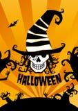 Fundo de Halloween. ilustração do vetor