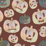 Fundo de Halloween com abóboras Imagem de Stock Royalty Free