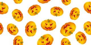 Fundo de Halloween com abóboras Fotos de Stock Royalty Free