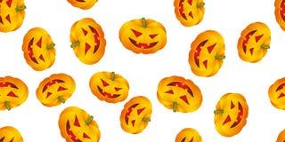 Fundo de Halloween com abóboras Fotografia de Stock