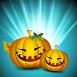 Fundo de Halloween com abóboras assustadores. Fotografia de Stock Royalty Free