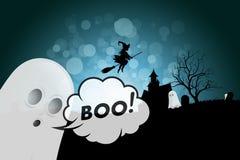 Fundo de Halloween com fantasma fotografia de stock royalty free