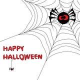 Fundo de Halloween com Web de aranha 3. Imagens de Stock Royalty Free