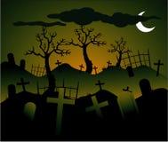 Fundo de Halloween do vetor Foto de Stock