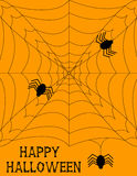 Fundo de Halloween Spiderweb Foto de Stock