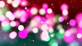 Fundo de HD Loopable com bokeh cor-de-rosa abstrato agradável ilustração do vetor