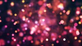 Fundo de HD Loopable com bokeh cor-de-rosa agradável ilustração do vetor