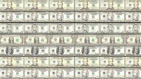 Fundo de HD Loopable com dinheiro da nota de dólar da impressão vídeos de arquivo