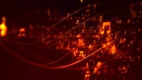 Fundo de HD Loopable com notas musicais do voo agradável vídeos de arquivo