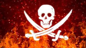 Fundo de HD Loopable com símbolo de giro agradável do pirata ilustração royalty free