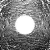 Fundo de incandescência abstrato do ruído do ponto do vetor Disposição de pontos de incandescência no formulário da superfície di Fotografia de Stock