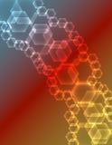 Fundo de incandescência abstrato dos hexágonos Fotografia de Stock Royalty Free
