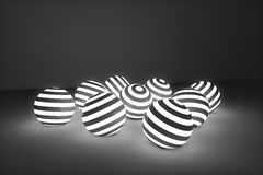 Fundo de incandescência das bolas Imagem de Stock Royalty Free