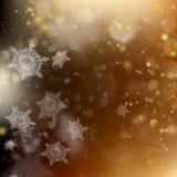 Fundo de incandescência do feriado dourado do Natal Vetor do EPS 10 Fotografia de Stock Royalty Free