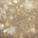 Fundo de incandescência do feriado dourado do Natal Vetor do EPS 10 Fotos de Stock Royalty Free