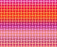 Fundo de incandescência dos blocos Caixa de verificação da cor de cores pastel na superfície preta ilustração do vetor