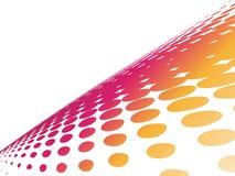 Fundo de intervalo mínimo da onda abstrata com cor Imagem de Stock Royalty Free