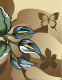 Fundo de intervalo mínimo floral Imagens de Stock
