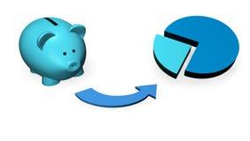 Fundo de investimento de Piggybank Fotos de Stock