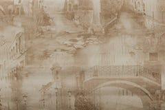 Fundo de jornais velhos Textura do fundo, vista superior fotografia de stock